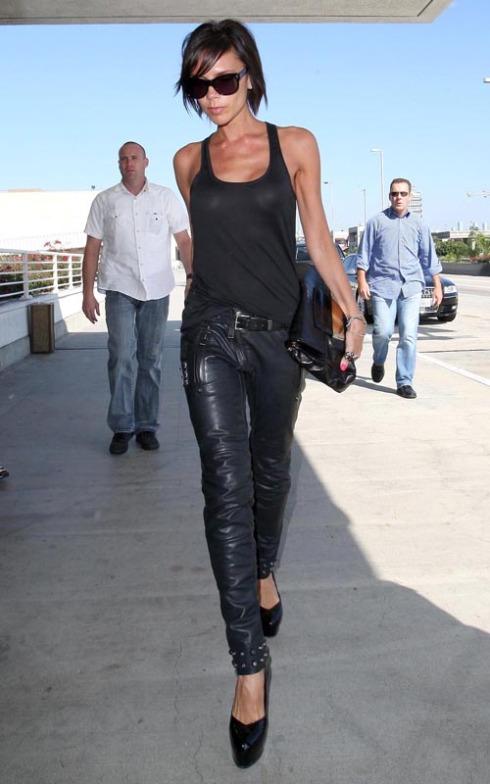 Victoria Beckham Arriving At LAX